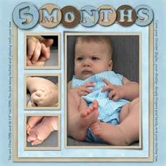 Baby Scrapbook Layouts - Month by month...love this but already did the month pages. Remember for next time