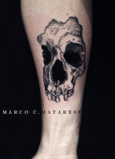 Scull, bone, tattoo ideas.   Tattoo - etching, blackwork, lines.   Tattooist: Marco C. Matarese, Milan. #marcocmatarese #matarese #incisione #etching #engraving #drawing #penandink #lines #steampunk #blackwork #milano #milan #sculptoroflines #tatuage #ink #tattoo #tattooist #dotwork #nero #tatuatore #linework #blackart #acquaforte #incisione