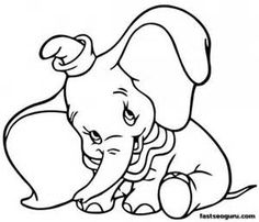 Disney Christmas Coloring Pages Dumbo Coloring Pages