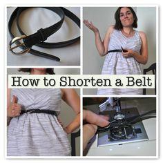 How to shorten a belt - from craft buds