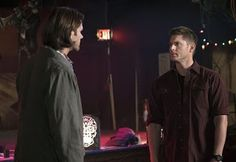 "Supernatural -- ""Brother's Keeper"" -- Image -- Pictured (L-R): Jared Padalecki as Sam and Jensen Ackles as Dean -- Photo: Katie Yu/The CW -- © 2015 The CW Network, LLC. All Rights Reserved. Supernatural Season 11, Supernatural Memes, Sam And Dean Winchester, Sam Dean, Jensen Ackles Brother, Grimm, Far Away Eyes, Cure, Hit Home"