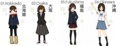Le uniformi scolastiche nelle varie regioni del Giappone