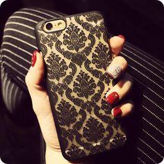 Luxe Vintage Fleur Motif De Mode Cas de Téléphone Pour iPhone 6 6 S Plus 7 Plus Cas 5 5S SE 5C 4 4S 7 Couleurs! Couverture arrière