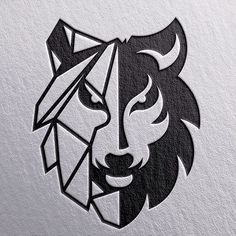 Logo Design Inspiration Discover Awesome and Creative Branding Design Ideas by Goran Jugovic Awesome and Creative Branding Design Ideas by Goran Jugovic Logo D'art, Art Logo, Tribal Wolf Tattoo, Wolf Tattoos, Tribal Lion, Art Drawings Sketches, Tattoo Drawings, Animal Logo, Logo Design Inspiration