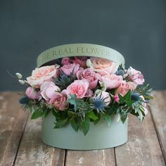 PLEASE NOTE: This arrangement is part of our Christmas Flower Collection and is only available for delivery from the to December. Beautiful Rose Flowers, Unusual Flowers, Real Flowers, Hat Box Flowers, Flower Boxes, Hat Flower, Roses Luxury, Tropical Flower Arrangements, Beste Mama