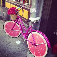 I could see myself riding a cool watermelon bike like this one, dressed in a polka dot dress and eating gelato.