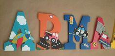 Custom Wood Nursery Letters/ Personalized in by SplendidlySassy