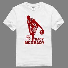 NBA McGrady T-mac Dribbling Breakthrough logo t shirt - Tshirtsky