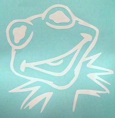 Kermit the Frog Muppets Cool Car Window Vinyl Decal Sticker Choose 12 Colors #VinylDecalSticker