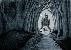 Dina Vdovenko on Behance Werewolf Hunter, Monster Hunt, Dark Castle, Bram Stoker's Dracula, Vampires And Werewolves, Black Lagoon, Creatures Of The Night, Classic Monsters, Conte