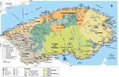 Carte de la Gaspésie et ses différentes régions