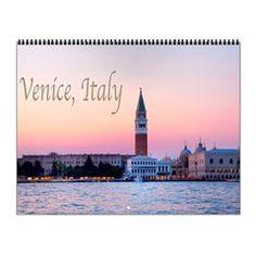 Venice Italy Sunset Waterview Wall Calendar #venice italy #veniceitalycalendar #2017calendar #cafepress #shopping #shop #travelphotography #giftidea