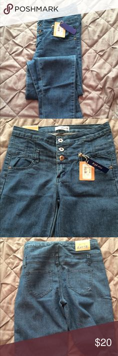 "Cotton On ""High Rise"" denim Skinny Jeans New never worn with tags. Dark washed blue denim with skinny leg and high waisted! Cotton On Jeans Skinny"