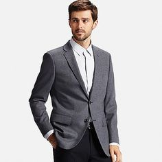 MEN Stretch Premium Wool Slim Fit Jacket