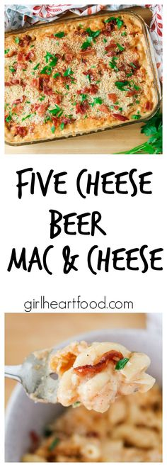 This one is packed with mozzarella, cheddar, gouda, parmesan and cream cheese for one creamy bite.  The beer adds a subtle flavour and sweetness to the mix – definitely comfort food perfect for a cold day. #sponsored #cookingwithbeer #macncheese #macandch