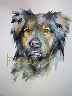 CUSTOM comissioned ArT of your PeT 9x12 inch original watercolor