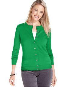 Womens Rib-Knit 3/4-Sleeve Cardis - y en blanco - 23 | clothes ...