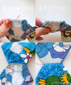 joining hexagons with running stitch