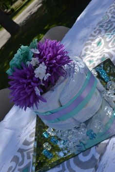 special wedding cake for you black teal lace pearls centerpiece