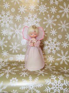 Vintage Angel Christmas Tree Topper, Pink Angel, Mid Century Tree Topper…