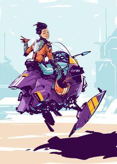 Superb Digital Cyberpunk Illustrations By Mikołaj Piszczako – Design You TrustDesign You Trust Character Poses, Character Concept, Character Art, Concept Art, Character Design, Concept Ships, Line Illustration, Character Illustration, Illustrations