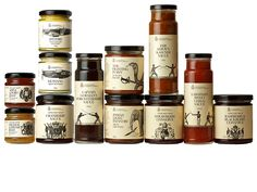 The Regimental Condiment Company - BEAUTIFUL packaging / illustration