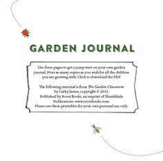 Garden Journal from The Garden Classroom: Hands-On Activities in Math, Science, Literacy, and Art by Cathy James