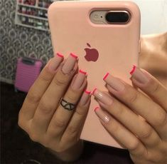 40 Best Acrylic Square Nails Designs In Summer - Septor Planet Nails Square Acrylic Nails, Best Acrylic Nails, Acrylic Nail Designs, Minimalist Nails, Nail Swag, Square Nail Designs, Aycrlic Nails, Coffin Nails, Fire Nails