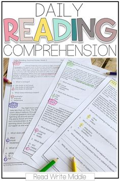 Daily reading comprehension in upper elementary and middle school is a great practice for students to practice during small groups or literacy centers. Check out all of these amazing reading passages and questions to see how you can use them with your kids! #dailyreading #readingcomprehension Reading Comprehension Passages, Comprehension Strategies, Reading Strategies, Third Grade Reading, Middle School Reading, Authors Purpose, Common Core Reading, Literature Circles, Reading Stories