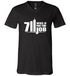 Amazing Seven Eleven Was A Part Time Job Unisex V-Neck T-Shirt