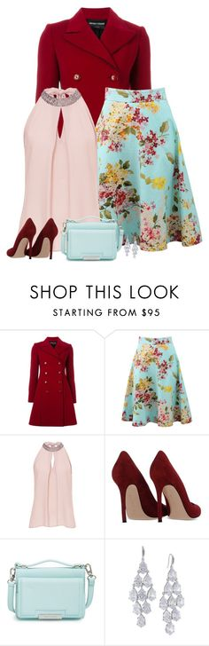 """""""18/1"""" by divacrafts ❤ liked on Polyvore featuring Emporio Armani, Blumarine, Vera Mont, Gianvito Rossi, Vince Camuto, Carolee, women's clothing, women's fashion, women and female"""