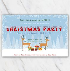 9 Best Christmas Party Invitation Templates In Word Images