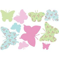 We could find some cool scrapbooking sheets and make some of these.   Childs decor primary color butterflies - Google Search