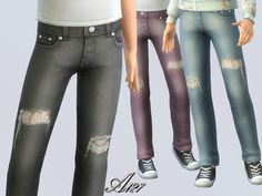The Sims Resource: Jeans girl by Altea127 • Sims 4 Downloads