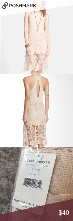 Free People tank Nora crochet dress Cute for all summer long! Size small. Free People Dresses