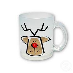 taza, cup, navideño, navidad, christmas, reno, rodolfo