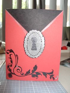 Black and Red, Congratulations card