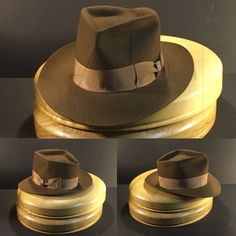 77bc3a4742230 Just finished this diamond crease bespoke fedora with a vintage grosgrain  ribbon.  Penmanhats