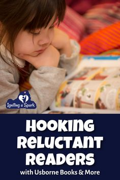 I've tried a gazillion books trying to get my son to read. And then I stumbled into Usborne Books & More, and he started getting EXCITED about books. So let me share with you books that hooked him and can hook other reluctant readers as well. Igniting a Spark || Usborne Books & More
