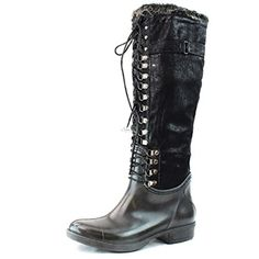 Stylish Womens Rain Boots Water Shoes High Leg With Cute Pattern Tyc130 >>> This is an Amazon Affiliate link. For more information, visit image link.