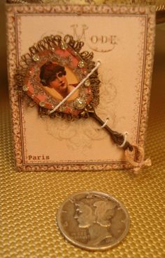 Miniature 112 Scale Victorian Jeweled Fan by heirloomsbysusanh