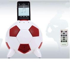 Speakal mi-Soccer 2.1 Stereo Speakers and Docking Station with 3 Speakers for iPod (Red/White)