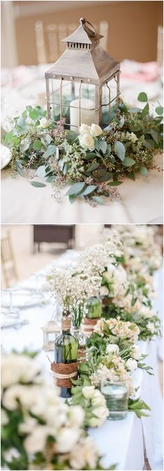 Greenery wedding decor ideas / #wedding #weddingideas #weddinginspiration #deerpearlflowers http://www.deerpearlflowers.com/greenery-wedding-decor-ideas/