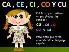 CA , CE , CI . CO Y CU , EN LAS PALABRAS II - LECCIONES PARA NIÑOS - ESPAÑOL PARA TODOS - YouTube