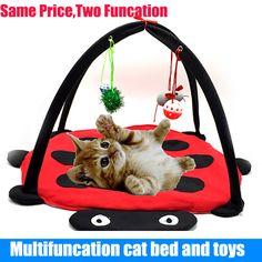 애완 동물 고양이 침대 고양이 텐트 장난감 휴대 활동 재생 침대, 장난감 고양이 침대 패드 담요 집, 애완 동물 고양이 가구 고양이 집 볼