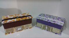 Caixinhas em cartonagem como porta jóias