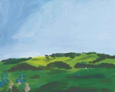 Karen Kilimnik (b.1955)  the pretty farm in England, all organic + non GMO, no to GMO's!
