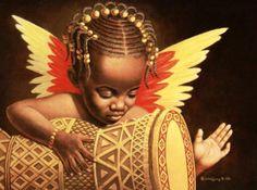 Black Angel Art - Guardian Angel - Janop