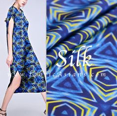 African inspired fashion. Printed silk fabric by fabricAsians