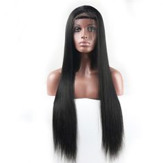The best human hair wig and chemical free in the market. 360 lace wig and Density. All our products have been tried by our team, people will love this Straight lace wig look on you! Free travel bag included with your purchase. Brazilian Lace Front Wigs, Brazilian Hair Wigs, Straight Lace Front Wigs, Indian Hairstyles, Up Hairstyles, Best Wigs, 100 Human Hair Wigs, Vetement Fashion, Peruvian Hair